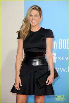 "Loving Jennifer Aniston's wardrobe during""We're The Millers"" European press tour. Here in Alexander McQueen."