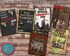 .Printable Duck Dynasty Valentines - Duck Dynasty Valentine's Day Card #duckdynastyvalentines