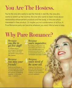 Why Pure Romance? www.jackiegoodfriend.pureromance.com