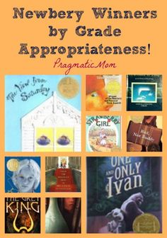 Newbery Winners by Grade Appropriateness from Pragmatic Mom
