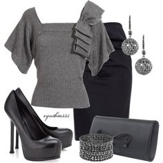 """Shades of Gray"" by cynthia335 on Polyvore"