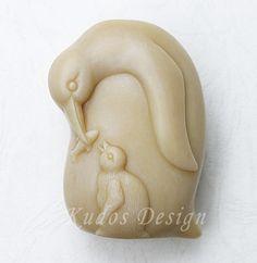 soap mold, silicone soap mold, W011 Penguin Silicone Soap Mold (Kudos Design, Kudo Soap)