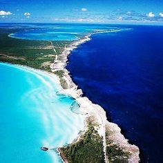 Where the Caribbean Sea meets the Atlantic Ocean - Eleuthera, Bahamas