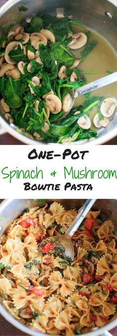 One Pot Spinach and