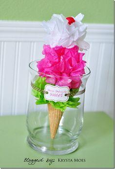 """""""Ice Cream"""" Centerpiece for ice cream party"""