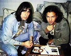 Eddie Vedder and Johnny Ramone