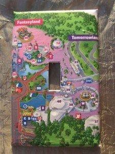 Turn a Disney Park Map Into A Souvenir