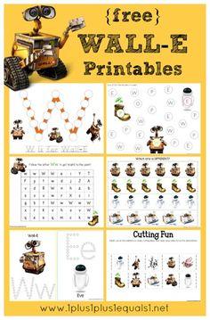 Wall-E Printables {free} from @{1plus1plus1} Carisa #preschool #kindergarten