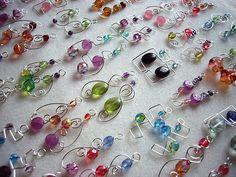 Wire wrapped Earrings. Pretty!