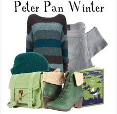 Disney Inspired Outfit pan outfit, disney inspired outfits, colors, accessories, shoe, boots, bags, hat, peter pan