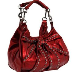 Beautiful red handbag by betsey johnson