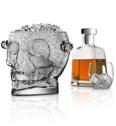 Brainfreeze glass skull ice bucket