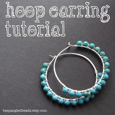 Wire-wrapped Hoop Earring Tutorial
