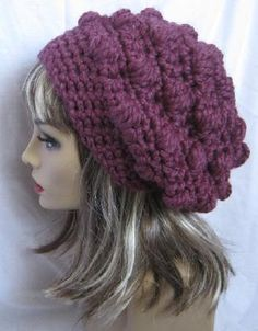Crochet Slouch Hat    I want!!!
