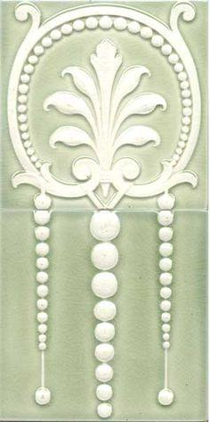German art nouveau tile by Villeroy and Boch