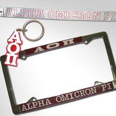 Alpha Omicron Pi Car Package $19.95 #Greek #Sorority #Accessories #AOPi #AOII #AlphaOmicronPi #Car #Package