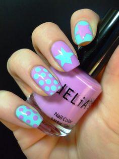 Polka dots and stars  #nails #nailcare #nailart #beauty #women #fashion #polkadots