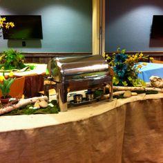 Rustic Buffet Decorations!