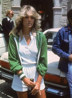 See Old Hollywood Stars Playing Tennis - Farrah Fawcett, 1976 from InStyle.com