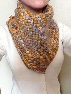 Please note: Knitting Pattern for Crochet Inspiration. I want this yarn! This looks like the woven stitch in crochet. knorman13s Rasta Plaited Basket Stitch Cowl. malabrigo Rasta, Laguna Negra color.