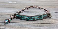 Inspirational Quote Bracelet encourage your by Eleven11designs, $22.00