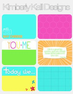 Journal Cards - Free Printables