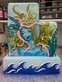 Upper Midwest Bakery Assoc. Gold Medal winner, 2012. Handpainted on fondant, took me about 6-7 hours to complete cake in total.