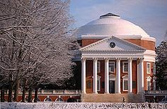 University of Virginia in Charlottesville--We were there slightly over a month.