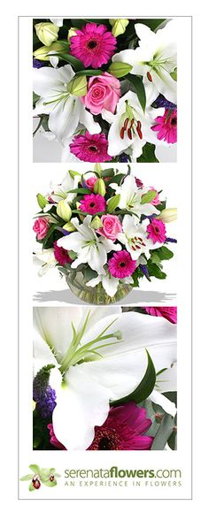 """Land of Dreams"" flower bouquet, #romantic #flowers #love #lilies #roses"