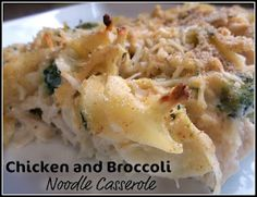 Healthy, Easy and Delicious Chicken and Broccoli Noodle Casserole
