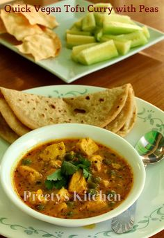 Quick Tofu Curry with Peas / Matar #Tofu Ki Sabzi (Pressure Cooker Recipe) #Vegan