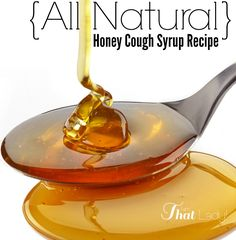 All Natural Cough Syrup using honey! #natural #DIY #essentialoils #health #remedy