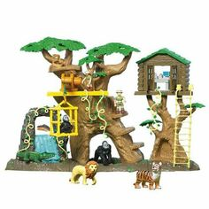 Animal planet super treehouse playset toy for Magic cabin tree fort kit
