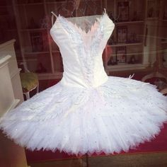 #windowdisplay with real #ballerina outfit ! Love the #net #tulle #froufrou #sparkle