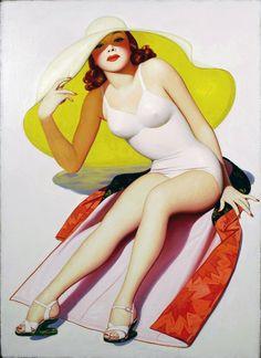 """Peek of the Season"" ~ Film Fun Cover Art c.1940, artwork by Enoch Bolles"