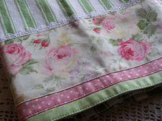 Shabby chic roses dish towel, gorgeous