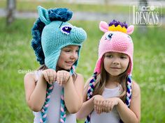Handmade Crochet Pony Unicorn Horse Hat For All Ages