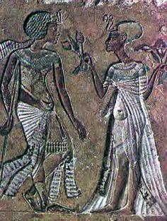 Queen Meritaten 'beloved of Aten'  Pharoah Smenkhkare and Meritaten  18th Dynasty