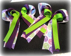 Horse Show Bows Equestrian Hairbow Set of by MyBellaBellaBowtique, $18.00