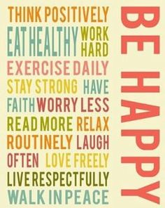 Be happy #healthyinspiration #TheGrassSkirt #exercise #health