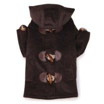 East Side Collection Polyester/Cotton Corduroy Toggle Dog Coat, Large, 20-Inch, Chocolate