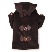 East Side Collection Polyester/Cotton Corduroy Toggle Dog Coat, Large, 20-Inch, Chocolate dog dress, dog cold, dog coats, weather coat