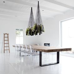 Cool Idea: Upcycled Wine Bottle Chandelier