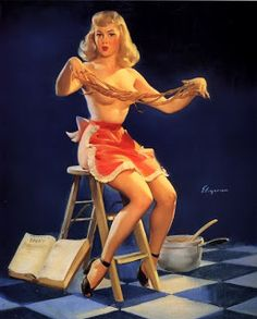 The PinUp Art: Pin up in kitchen