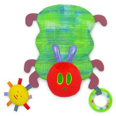Kids Preferred Wrap-Around Development Toy easily attaches to a stroller or carrier and can adjust into a blanket toy, a handy transformation when heading for grandma and grandpa's house without having to leave a soothing friend behind. Hand washable, attached ring rattles and the sun crinkles when squeezed. Understanding the difference between a rattle and a crinkle is a major achievement on the road to toddlerhood. Trust Kids Preferred to encourage these ground-breaking developments.