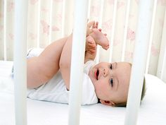 Today's crib should contain a mattress, a crib sheet, and a baby — nothing else.