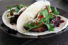 Crockpot Korean Tacos by mylifeasmrs: #Tacos #Korean #Crockpot