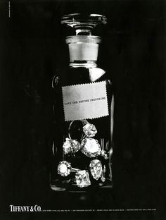Take one before proposing. A Tiffany ad from 1966. #TiffanyPinterest