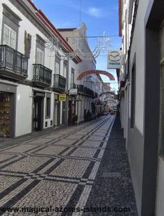 Ponta Delgada City Street