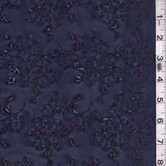 Navy Sparkle Stretch Lace